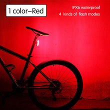 sampurchase 120Lumens USB Rechargeable Bicycle Rear Light Cycling LED Taillight Waterproof MTB Road Bike Tail Light Back Lamp for Bicycle