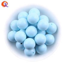 SAMPURCHASE Fashion Bead Jewelry 6-20MM 100Pcs/Lot Acrylic Beads Chunky Bubblegum Solid Beads For Necklaces Jewelry Making