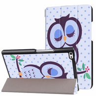 sampurchase Case for Lenovo Tab 4 8 TB-8504F/8504N Cover Slim Painted Flip Stand PU Leather Case for Lenovo Tab4 Tab 4 8.0 inch Tablet+Gifts
