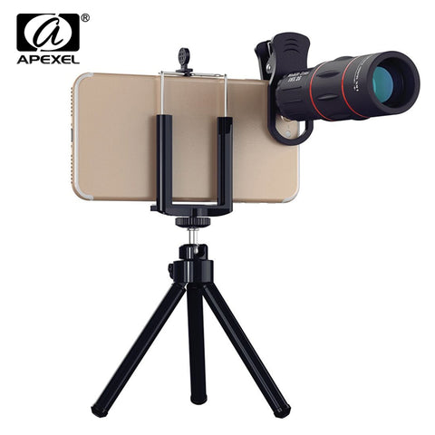sampurchase Universal 18X Telescope Optical Zoom Mobile Phone Lens for iPhone Samsung XIAOMI Smartphones clip Telefon Camera Lens