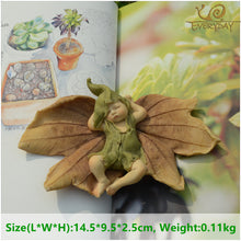sampurchase Everyday Collection Leaf Fairy Angel Figurine Baby Outdoor Statue/Miniature Fairy Garden Ornament Christmas Decoration For Home
