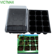 sampurchase VICTMAX 5 Set 12 Cells Seed Nursery Pot Planting Tray Kit Plant Germination Box With Lid Garden Grow Box
