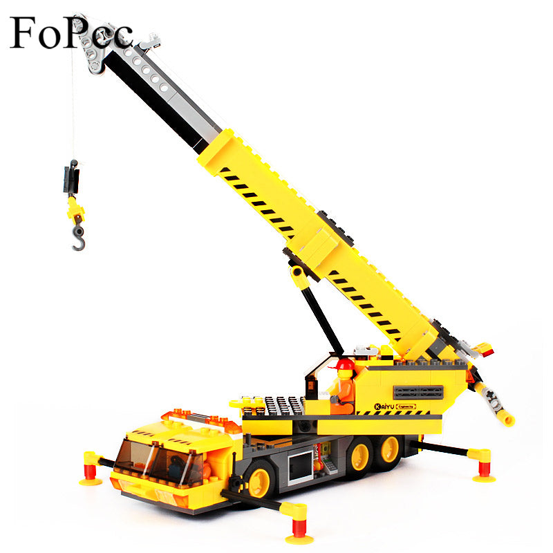 sampurchase Kids Toys 8045 Blocks 380Pcs Model Toy Compatible With Engineering City Building Crane Building Block Educational Brick Legoings