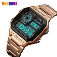 sampurchase SKMEI Men Sports Watches Waterproof Mens Watches Top Brand Luxury Male Electronic Digital Watch Men Clock