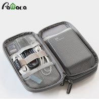 sampurchase Travel Gadget Organizer Bag Portable digital cable bag Electronics Accessories Storage Carrying Case Pouch for USB power Bank