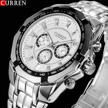 sampurchase 2018 New CURREN Watches Men Top Luxury Brand Hot Design Military Sports Wrist watches Men Digital Quartz Men Full Steel Watch