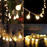 SAMPURCHASE 10M 100 LEDs 110V 220V IP44 Multicolor LED String Lights