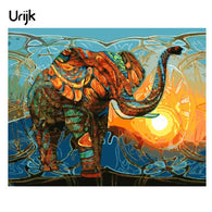 sampurchase Urijk Frameless Elephant Pictures Painting By Numbers DIY Oil Paintings Canvas Number Painting Home Decorations Accessoris