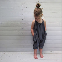 SAMPURCHASE Kids Baby Girls Strap Cotton Romper Jumpsuit Harem Trousers