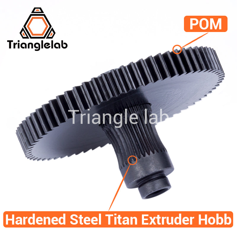 sampurchase Trianglelab 3d printer Titan Extruder new metal gear Hobb  (Hardened Steel) free shipping reprap mk8 i3