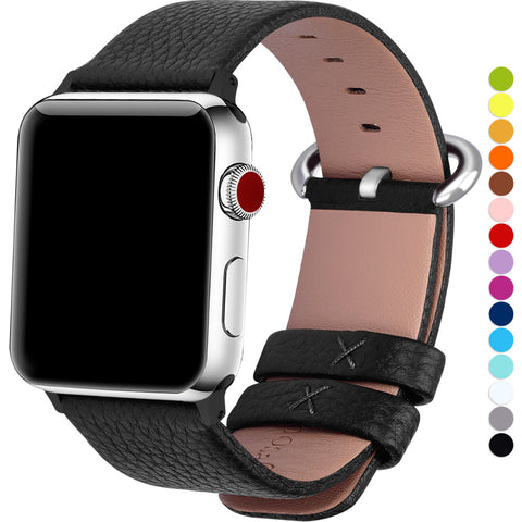 SAMPURCHASE Apple Watch Bands 38mm 42mm, genuine cow leather