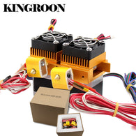 sampurchase MK8 Dual Head Extruder 12V40W 3D Printers Parts Nozzle 0.3mm 0.4mm Double Hotend Extrusion 1.75mm Filament with Motor Fan Part