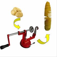 sampurchase ANTS STRONG High-quality stainless steel manual potato machine/Tornado potato slicer strange new home kitchen tool