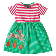 sampurchase Baby Girls Summer Dress Kids Clothes 2018 Vestidos Princess Dress Animal Applique Children Unicorn Party Dresses Dropshipping