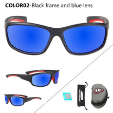 sampurchase QUESHARK Men Polarized Fishing Sunglasses Camping Hiking Goggles Uv400 Protection Bike Cycling Glasses Sports Fishing Eyewear