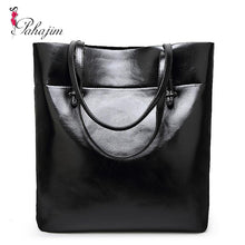 sampurchase 2018 new leather leisure women bag contracted  leather tote bags  woman single handbag