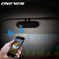 SAMPURCHASE Onever Wireless Bluetooth Car Kit Speakerphone Handsfree Sunvisor In-Car Speaker music Player for SmartPhone with Car Charger