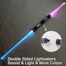 SAMPURCHASE 2 Pieces Sound Lightsaber Cosplay Props Kids Double