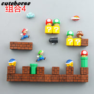 sampurchase Creative cartoon garden super Mario decoration fridge magnets   Creative PVC powerful fridge magnets