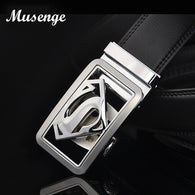 sampurchase Musenge Male Genuine Leather Designer Belts Men High Quality Men's Belt Luxury Automatic Buckle Belts For Men Cinturones Hombre