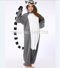 SAMPURCHASE Kigurumi Lemur Long Tail Monkey Onesie Unisex Pajamas