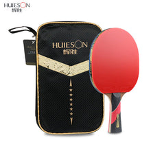 sampurchase Huieson Wenge Wood & Carbon Fiber Blade 6 Star Table Tennis Racket Sticky Pimples-in Rubber Super Powerful Ping Pong Racket Bat