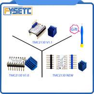 sampurchase 5pcs MKS TMC2130 V1.0/2130 New /TMC V1.1 Three Kinds Stepstick Stepper Motor Driver SPI With Heat Sink Ultra-silent Excellent