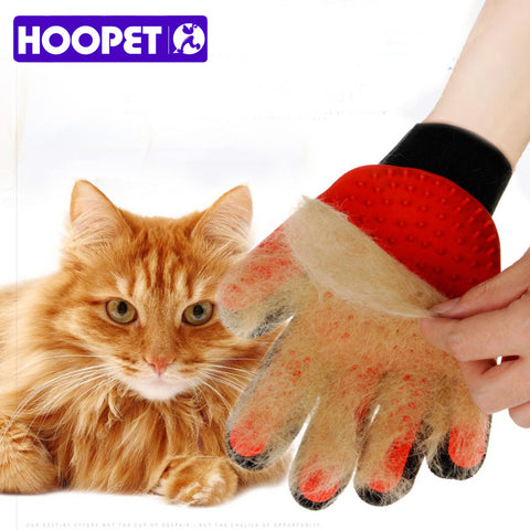 sampurchase  HOOPET Cat Gloves Hair Comb Pet Bath Brush Dog Massage Pet Grooming Cleaning Supplies
