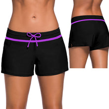 sampurchase SEBOWEL Bikini Swimwear Lace Up Beach Shorts Black Wide Waistband Swimsuit Bottom Shorts