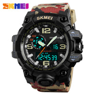 sampurchase SKMEI Sport Watch Military Watch For Men Waterproof Mens Watches Top Brand Luxury Clock Man Digital watch Relogio Masculino 1155
