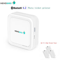 sampurchase Mini Printer MEMOBIRD G3 New Bluetooth 4.2 Portable Phone Wireless Photo printer  USB Micro Connector 3 Rolls Thermal Paper