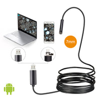 sampurchase 7mm Lens 1M 2M 5M Cable Android OTG USB Endoscope Camera Flexible Snake USB Pipe Inspection Smartphone Borescope Camera