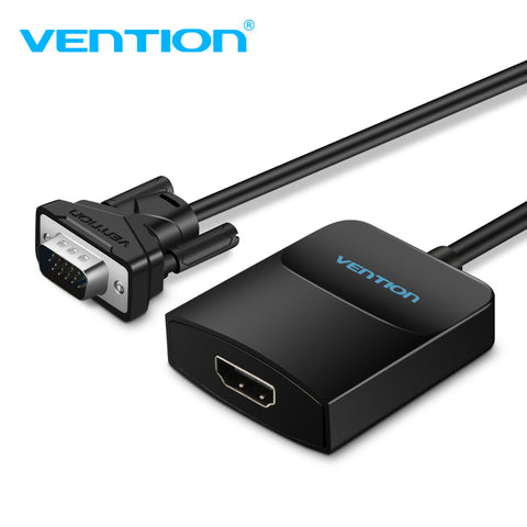 sampurchase Vention Active VGA to HDMI Adapter Cable Converter with Audio 1080P for PC Laptop to HDTV Projector with built-in chipset