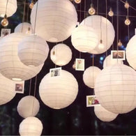 SAMPURCHASE 30pcs/Lot Mix Size White Paper Lanterns Chinese Paper Ball Lampion