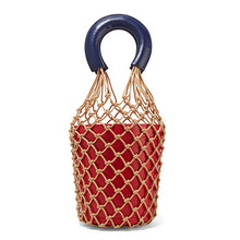 sampurchase beach bag nets bucket bags hollow bao bao women summer totes bag 2018 new fashion high quality white brown red white pink color