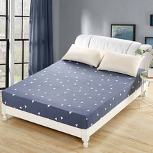 sampurchase 1pc 100%Polyester Fitted Sheet Mattress Cover Printing Bedding Linens Bed Sheets With Elastic Band Double Queen Size 160cm*200cm