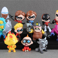 SAMPURCHASE 12pcs/set Cute version The Incredibles 2 Super Family figure toys