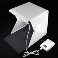 sampurchase 20*20cm 30*30cm 40*40cm Mini Folding Studio Diffuse Soft Box Lightbox With LED Light Black White Photography Background Photo