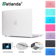 sampurchase Matte Case New Air 11 13 Pro 13 15 Touch bar 2016 2017 Model New Retina 12 13 15'' for macbook Keyboard Cover+Screen Protector