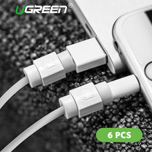 sampurchase Ugreen 6PCS Cable Protector for Original iPhone Cable Charger USB Cable Winder for iPhone x 8 6 7Data Cable Organizer Cord Saver