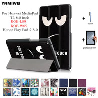 SAMPURCHASE YNMIWEI Case For Huawei MediaPad T3 8.0 KOB-L09 KOB-W09 Tablet Stand Slim Cases For Honor Play Pad 2 8.0 +protector