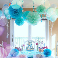 sampurchase  30pcs  Pom Poms Tissue Paper Artificial Flowers Ball Wedding Decoration Baby Shower
