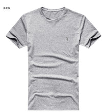 SAMPURCHASE Mens T-shirt Fitness Cotton Tee Tops Sheep Head Logo Solid Basic