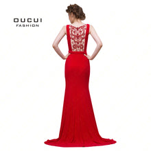 SAMPURCHASE Real Photos Beaded see through back deep V neck Formal Evening Dress Long Mermaid New Spaghetti Strap OL102961