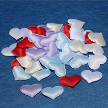 SAMPURCHASE 2000pcs 2.1cm Fabric Love Heart Shaped Party Confetti