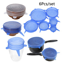 sampurchase 6PCS/Set Various Useful Silicone Stretch Preserve Pot Bowl Lid for Fridge Microwave Oven Food Saver Reusable Containers Cover