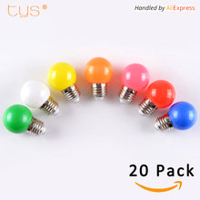 SAMPURCHASE 20Pcs Lampada LED Lamp Colorful Bombillas E27 G45 220V LED Light SMD 2835 Lamparas Led Bulbs Colorful bulb Light flashlight LED