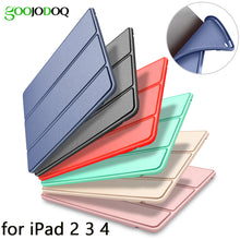 sampurchase Case for iPad 2 3 4 Case Silicone Soft Back Folio Stand with Auto Sleep/Wake Up PU Leather Smart Cover for iPad 3 4 2 Case