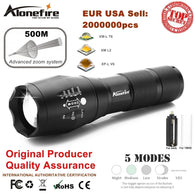 sampurchase AloneFire G700 E17 XM-L T6 Aluminum Waterproof Zoomable Cree Led Flashlight Torch Tactical light AAA 18650 Rechargeable Battery