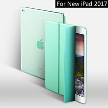 SAMPURCHASE Case for New iPad 9.7 inch 2017 2018, ZVRUA YiPPee Color PU Smart Cover Case Magnet wake up sleep For model A1822 A1823 A1893